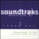I'm Available to You - Low Key without Background Vocals [Music Download]