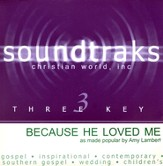 Because He Loved Me, Accompaniment CD