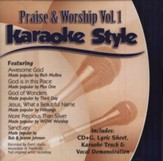 Praise & Worship, Volume 1, Karaoke Style CD