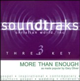 More Than Enough, Accompaniment CD
