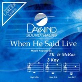 When He Said Live, Accompaniment CD