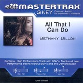 All That I Can Do, Accompaniment CD
