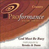 God Must Be Busy, Accompaniment CD