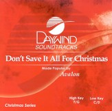 Don't Save It All For Christmas, Accompaniment CD