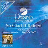 So Glad It Rained, Accompaniment CD