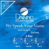 We Speak Your Name, Accompaniment CD