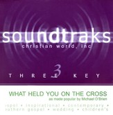 What Held You On The Cross, Accompaniment CD