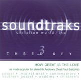 How Great Is The Love, Accompaniment CD  - Slightly Imperfect