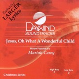 Jesus, Oh What A Wonderful Child, Accompaniment CD