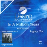 In A Million Years, Accompaniment CD