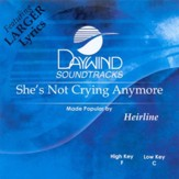 She's Not Crying Anymore, Accompaniment CD