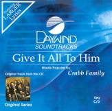 Give It All To Him, Accompaniment CD