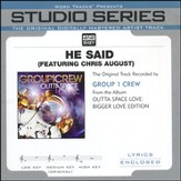 He Said (feat. Chris August) [Studio Series Performance Track] [Music Download]