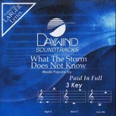 What The Storm Does Not Know, Accompaniment CD