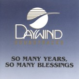 So Many Years, So Many Blessings, Accompaniment CD