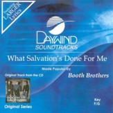 What Salvation's Done For Me, Accompaniment CD