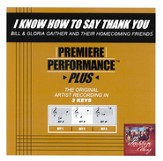 I Know How To Say Thank You, Accompaniment CD