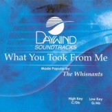 What You Took From Me, Accompaniment CD