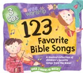 123 Favorite Bible Songs on 3 CD's