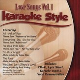 Love Songs, Volume 1, Karaoke Style CD