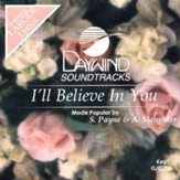 I'll Believe In You, Accompaniment CD
