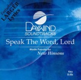 Speak The Word, Lord, Accompaniment CD