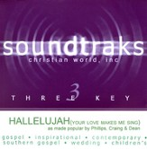 Hallelujah (Your Love Makes Me Sing), Accompaniment CD
