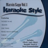 Marvin Sapp Volume 1, Karaoke Style CD
