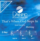 That's When God Steps In, Accompaniment CD