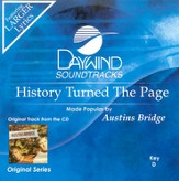 History Turned The Page, Accompaniment CD