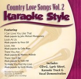 Country Love Songs, Volume 2 Karaoke CD