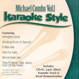 Michael Combs, Volume 1, Karaoke Style CD