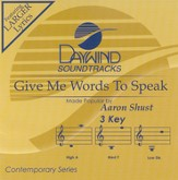 Give Me Words To Speak, Accompaniment CD