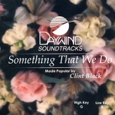 Something That We Do, Accompaniment CD