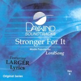 Stronger For It, Accompaniment CD