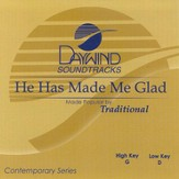 He Has Made Me Glad, Accompaniment CD