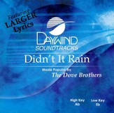 Didn't It Rain, Accompaniment CD