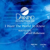 I Want the World to Know, Accompaniment CD