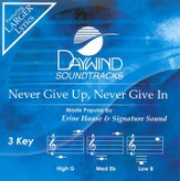Never Give Up, Never Give In, Accompaniment CD