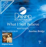 What I Still Believe, Accompaniment CD