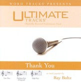 Ultimate Tracks - Thank You - as made popular by Ray Boltz [Performance Track] [Music Download]