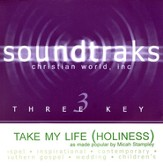 Take My Life (Holiness), Accompaniment CD