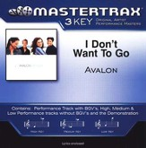 I Don't Want To Go (Premiere Performance Plus Track) [Music Download]