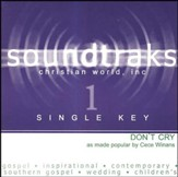 Don't Cry (Single Key), Accompaniment CD