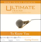 To Know You - Low Key Performance Track W/ Background Vocals [Music Download]