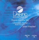 Thank God For My Christian Home, Accompaniment CD