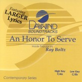 An Honor To Serve, Accompaniment CD