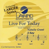 Live For Today, Accompaniment CD