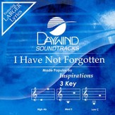 I Have Not Forgotten, Accompaniment CD