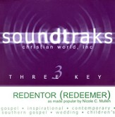 Redentor (Redeemer), Accompaniment CD